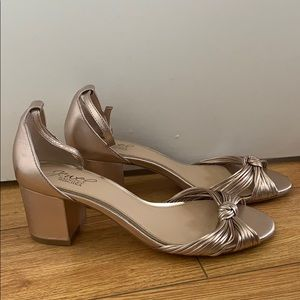 Badgley Mischka Rose Gold Block Heel